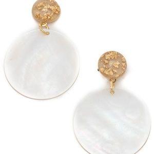 Capiz Shell Disc Drop Earrings